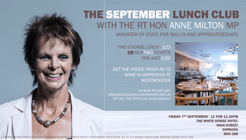 Anne Milton Lunch Club